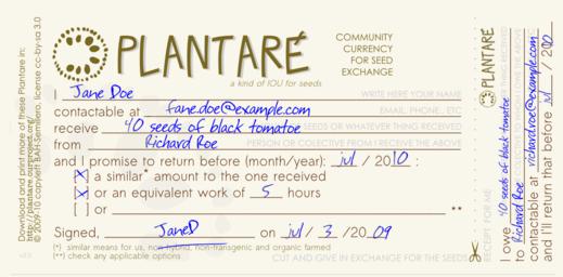 Plantare sample