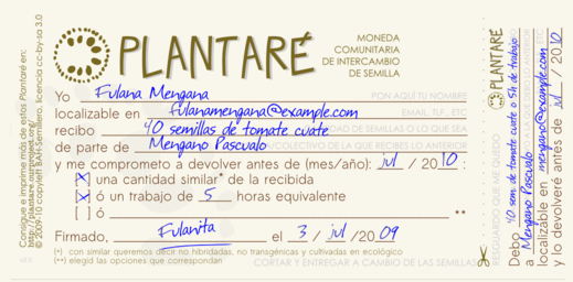 Ejemplo de Plantaré 2.0