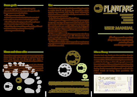 Plantare: User Manual