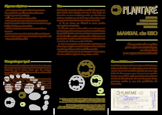 Plantaré: Manual de Uso